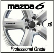 MAZDA 6 CAR WHEEL DECALS
